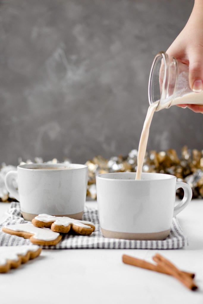 pour shot chai tea latte
