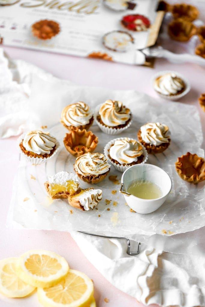 mini pies with lemon juice